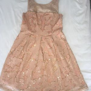 Anthropologie, beautiful sequined dress size 10